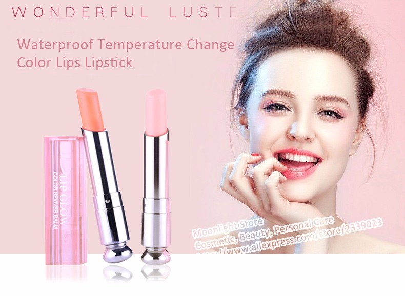 Hot Branded Makeup batom lip balm Glow Kit Moisturizer Waterproof Temperature Change Color Lips Lipstick Balm