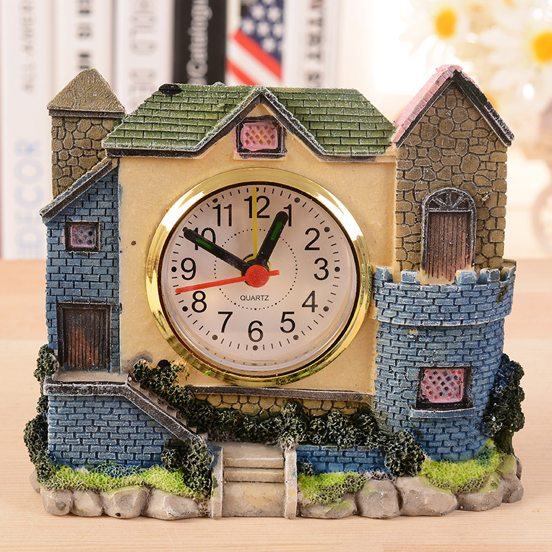 2016 Special Offer Manualidades Angel Snow Globe O2312 98001 Villa Castle Alarm Clock, Antique Rome Era Old House Resin Crafts(China (Mainland))