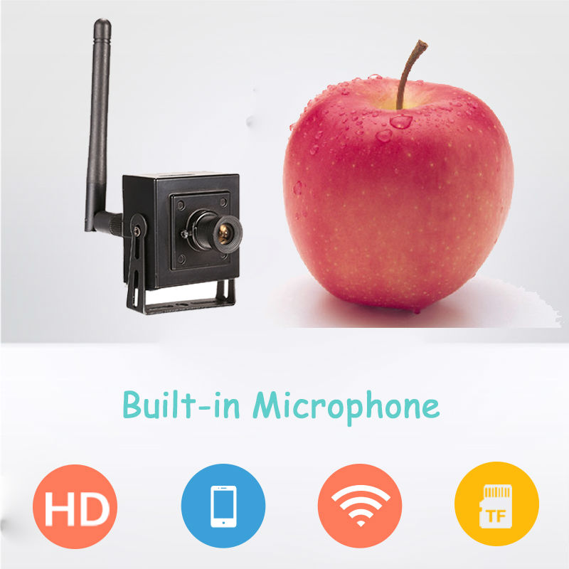 1MP 720P wireless audio micro spy IP Security Camera HD Mini small hidden WiFi sd card VEDIO alarm camera toilet CCTV P2P IPCam(China (Mainland))