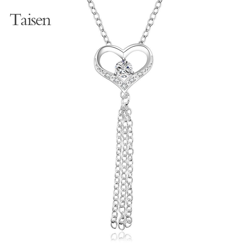 necklace long silver necklace women heart pendants for friends fashion necklaces for women 2016 new sweets jewelry findings(China (Mainland))