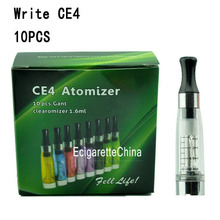 10pcs CE4 Clearomizer/Atomizer with Paper Box(transparent)