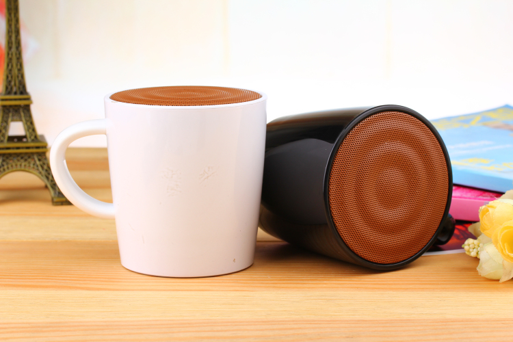 Tea cup loudspeakers bluetooth speaker records word as gift for lover handsfree portable boombox for the computer(China (Mainland))