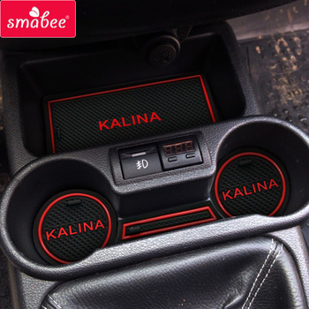 car Door groove mat For  Lada Kalina Accessories,3D Rubber Car Mat Gate slot pad Non-slip mats Car decoration