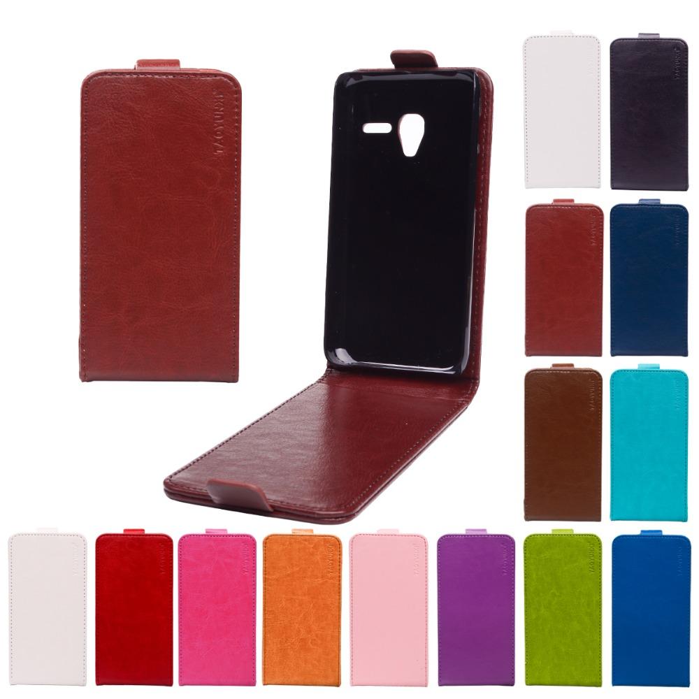 Гаджет  Flip Leather cover for alcatel one touch pixi 3 4.5inch wallet case OT 4027D 4027N 4028A vintage leather phone bag with magnetic None Телефоны и Телекоммуникации