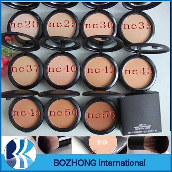 1PCs mc Brand Makeup Studio Fix Face Powder cake Plus Foundation compact foundat face powder puffs Polvos compactos with mirror(China (Mainland))