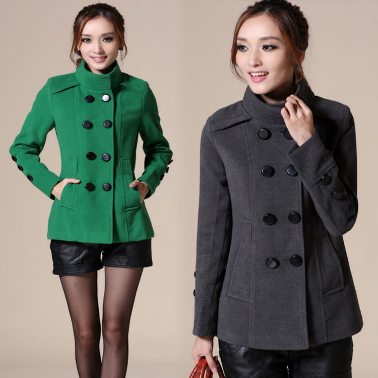 2015 Winter Fashion Style Brand Trench Coats Jackets Women Black Green Outwear Plus Size XXL - Good faith store