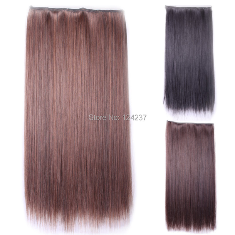 60 cm synthetic hair extension natural black women sexy light brown black costume party long. Black Bedroom Furniture Sets. Home Design Ideas