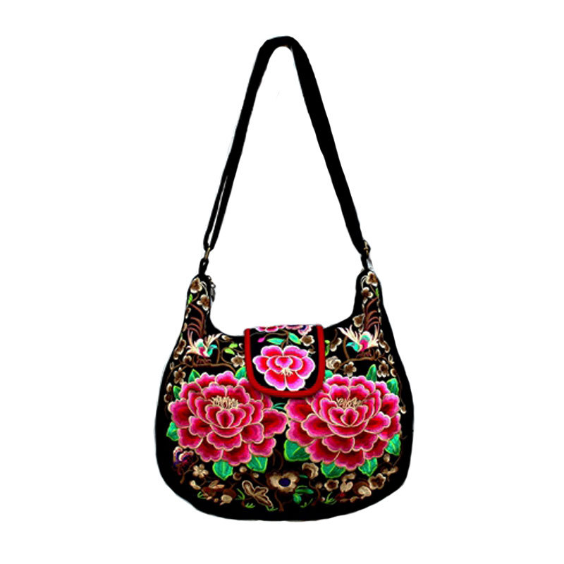 arrive female ethnic bag Chinese embroidery woman shoulder 2015 vintage canvas crossbody bags casual handbag women