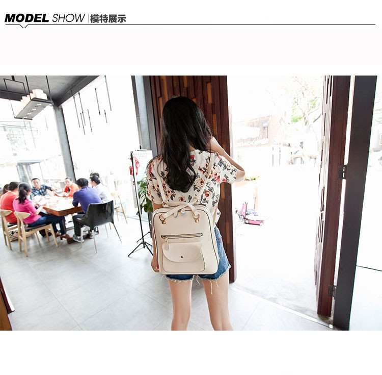 Women Shoulders Bags Genuine Leather Backpacks Casual Promotion Sale
