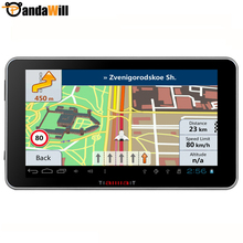 New Car GPS truck Navigation Android 4.4 Bluetooth Video automobile navigator MT8127 Quad-core sat nav navitel 2015 Free map(China (Mainland))