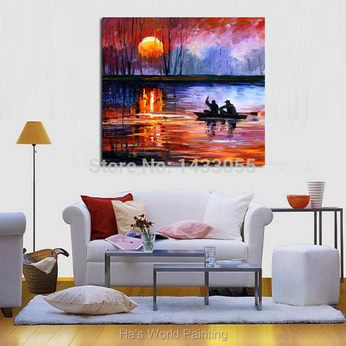Buy 100%Handpainted Abstract Fisherman Knife Oil Painting On Canvas Thick Oil Painting Wall Picture For Home Decor As Best Gift cheap