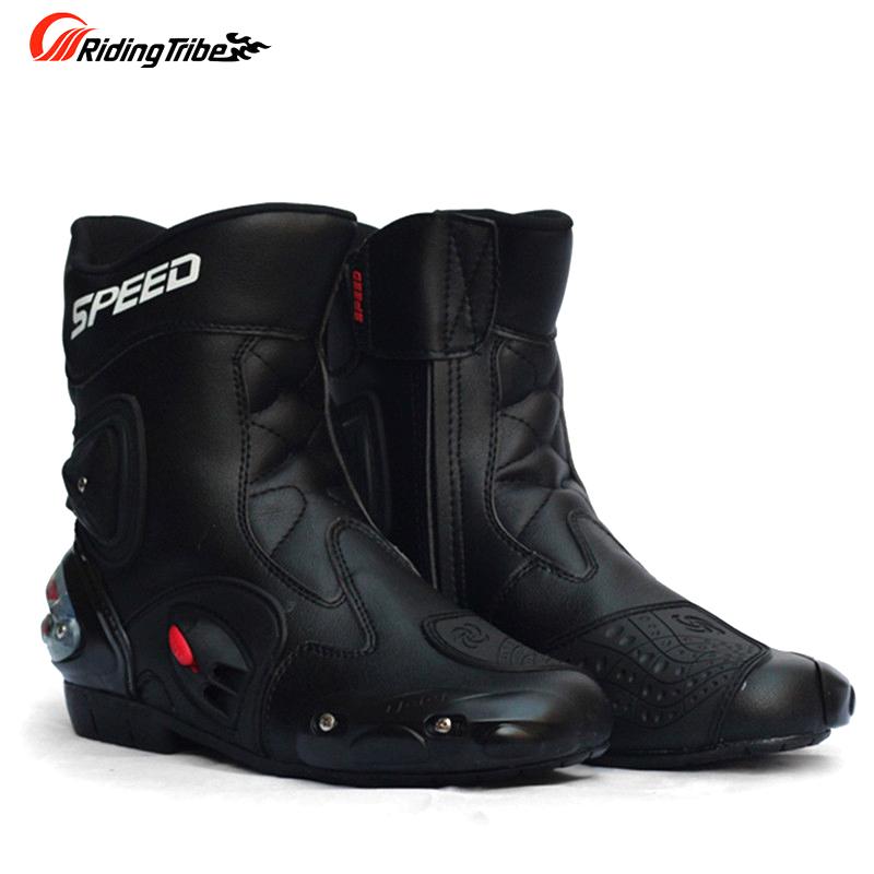 Фотография Riding Tribe SPEED Motorcycle Boots Shoes Motocross Botas Moto Motoqueiro Motocicleta A0041 Botte Botas Para Moto Men