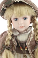Hotsale porcelain country girl doll lifelike toddler girl German brand RF collection doll hand-made art dolls for collectors(China (Mainland))