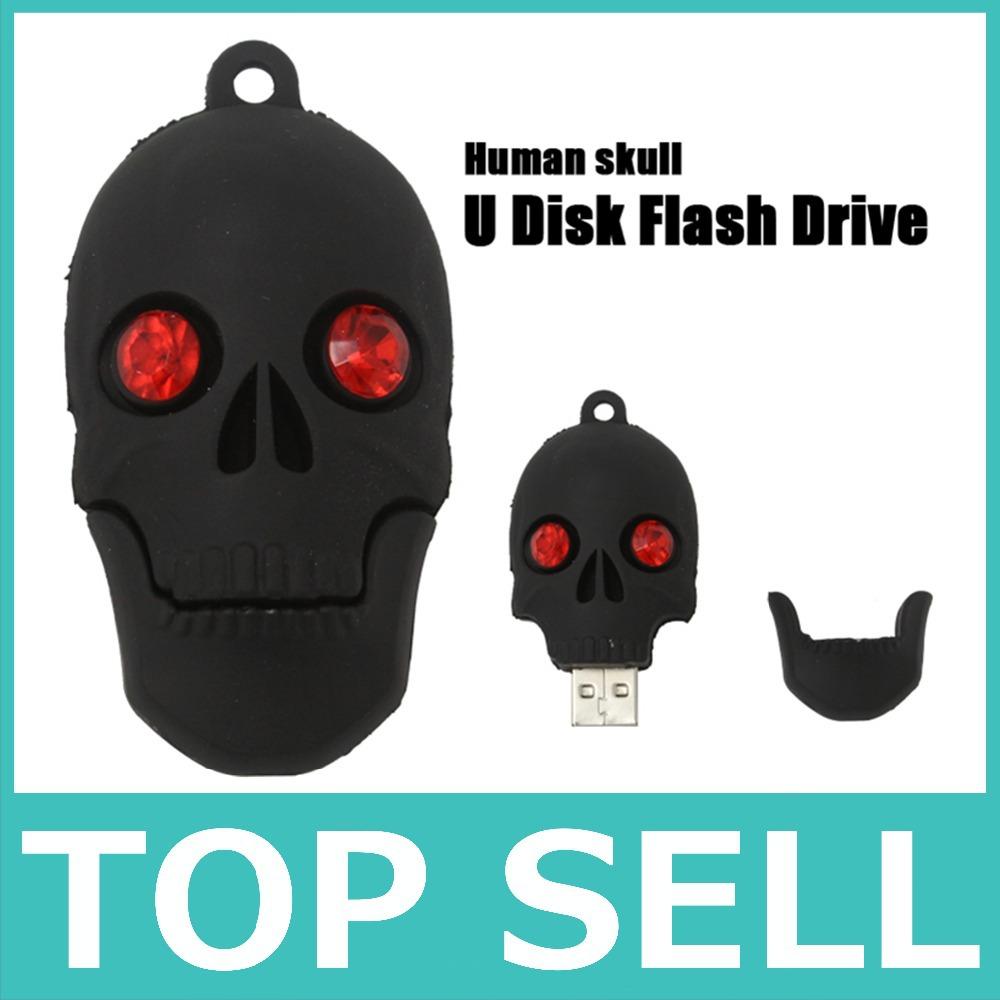 2015 new hot promotion usb flash drive 8gb skull head pen drive 4gb 16gb 32gb pendrive memory stick fashion cool gift u disk(China (Mainland))