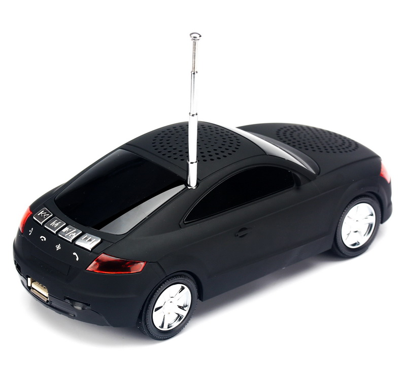 A8 Mini Sports Car Model Speakers Portable Wireless Speaker LED Light Stereo Subwoofer Music MP3 Player FM Radio USB TF SD Card(China (Mainland))