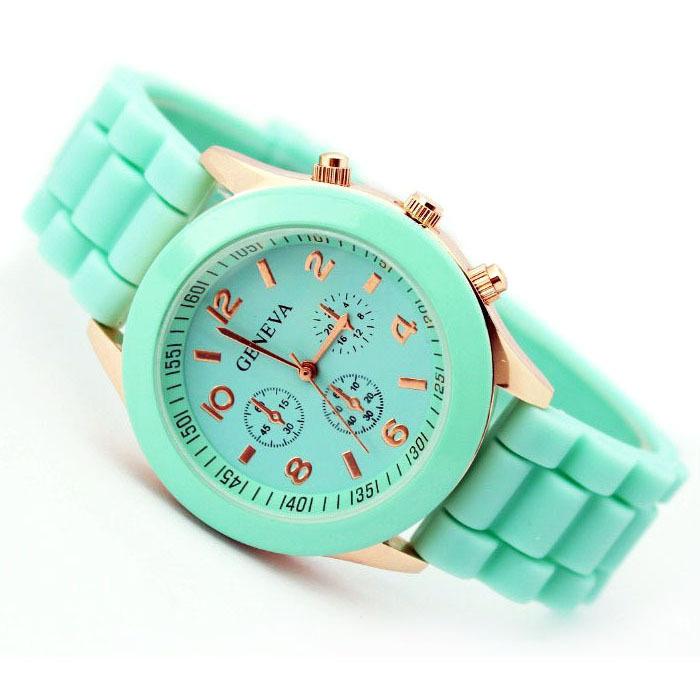 silicone jelly ladies watches relojes free shipping women dress watch,luxury brand fashion woman geneva quartz watch(China (Mainland))