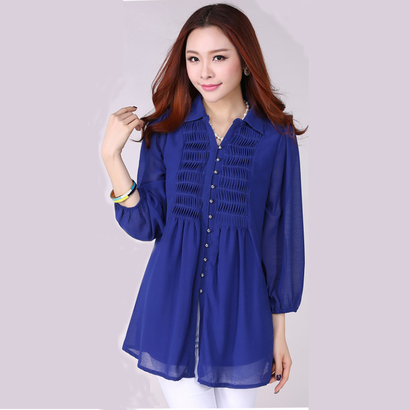 Buy long shirt loose casual blouses for Where to buy casual dress shirts