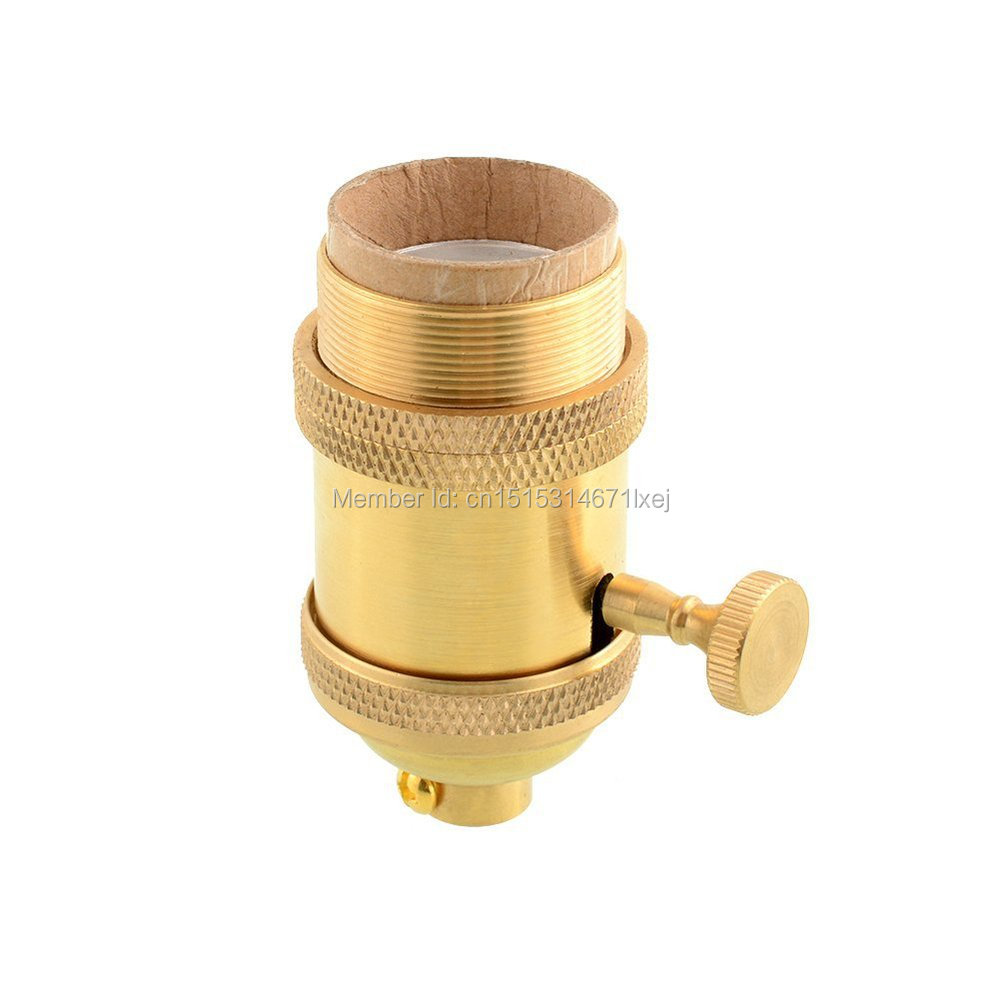 Free shipping vintage antique e27 copper pendant Lampholder Edison style light lamp socket with ring(China (Mainland))