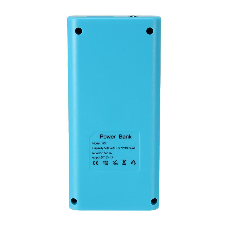 image for Leory Universal Safety 5V 1A DIY USB Power Bank 2 X 18650 Battery Char