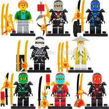 Ninja Flying Vehicle Minifigures Kai/Jay/Lloyd/Nya 8pcs/lot Building Blocks Sets Model Figures Bricks Toys