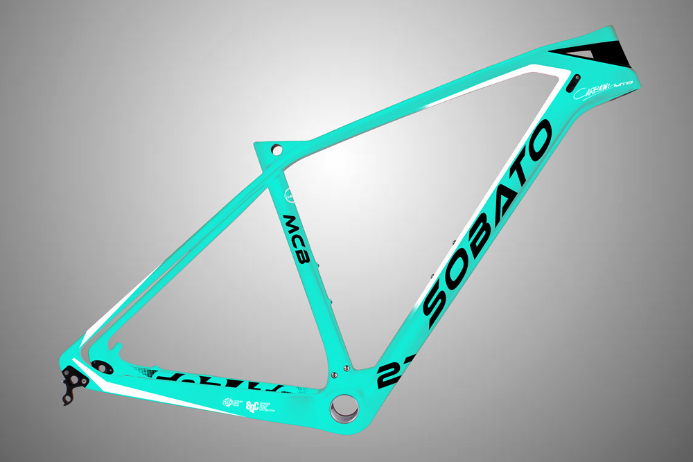"100% Toray T700 650B Mountain Bike 27.5er MTB Carbon Frame BSA UD Matte 17.5"""