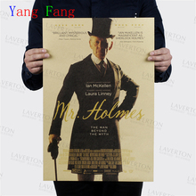 Buy Wall sticker Sherlock Holmes vintage poster retro Benedict Cumberbatch posters episodes wall stickers home decor 51*35cm for $1.19 in AliExpress store