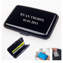 Personzlied Steel Material waterproof Name Card Credit Card Holder Wedding Party Business Man gift favour present souvenir(China (Mainland))