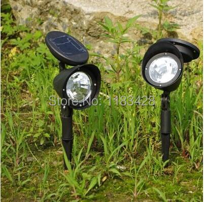 2pcs New Type 3Led solar light Outdoor Yard Garden Path Way solar Power LED Tulip Landscape Flower Lamp Lights Free Shipping(China (Mainland))
