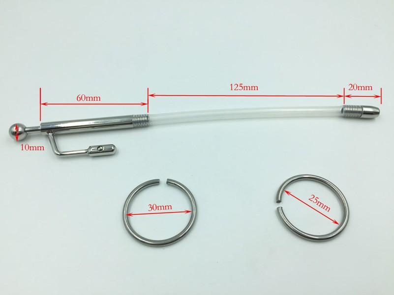 A010 уретры зонда уретры звук пениса пробка с головки кольцо металла из нержавеющей стали фетиш связывание для человека мастурбация