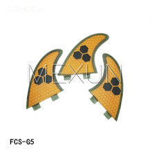 SURF FCS Fin System fiberglass honey comb Fins Tri Fin Thruster Set Surf Board Shortboard Skegs Surfboard(China (Mainland))