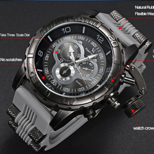 Vogue Fashion V6 3D surface Case Luxury Black Male Hour Clock Analog Military Man Business Casual Wrist watch reloj Gift(Hong Kong)