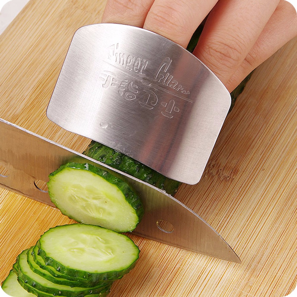 New Cooking Tools Stainless Steel Finger Hand Protector Guard Personalized Design Slice Knife Kitchen Accessories(China (Mainland))