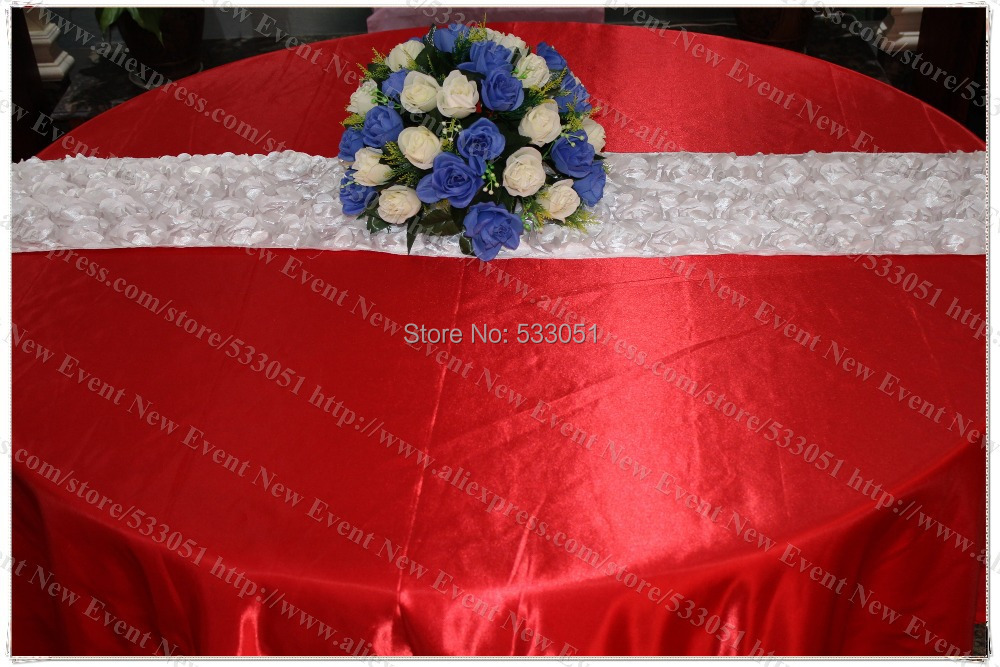 """132"""" Round Red Color (NO.21) Satin Tablecloth/Table Cover/Chair Cover/Chair Sash For Wedding Party Hotel Banquet Decorations(China (Mainland))"""
