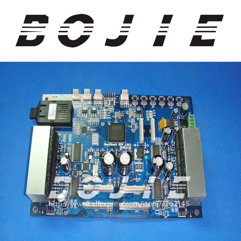 Solvent printer Zhongye DX5 unlocked old version carriage board Zhongye DX5 printhead board Rev136.3(China (Mainland))