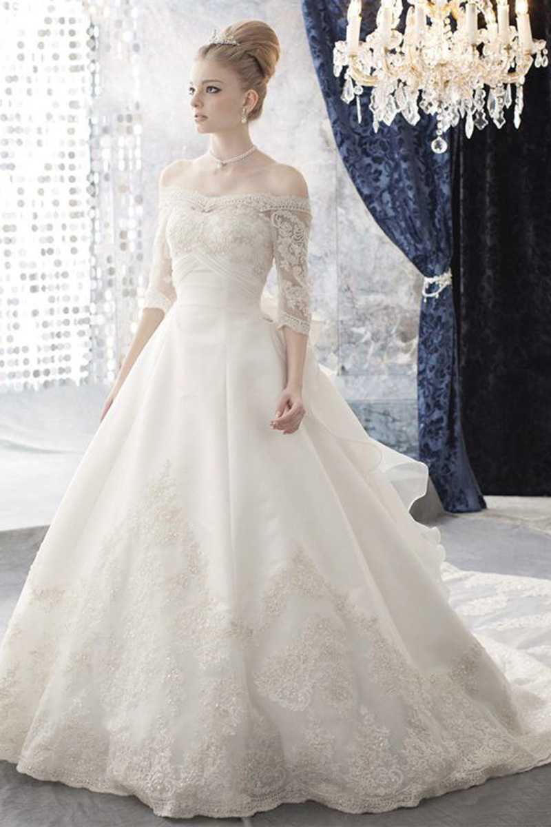Gown city dresses picture more detailed picture about for Elegant wedding dresses with long sleeves