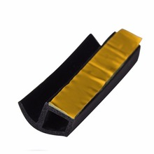 3m Universal P type car door rubber seal strip weatherstrip sound insulation noise proofing Fit For Car Truck Motor Door(China (Mainland))