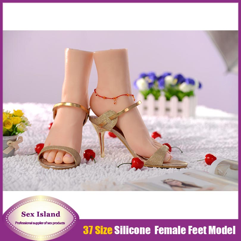 37 size Women simulation silicone fake Foot 100% real skin with skeleton foot fetish proclivity product Free shipping<br><br>Aliexpress