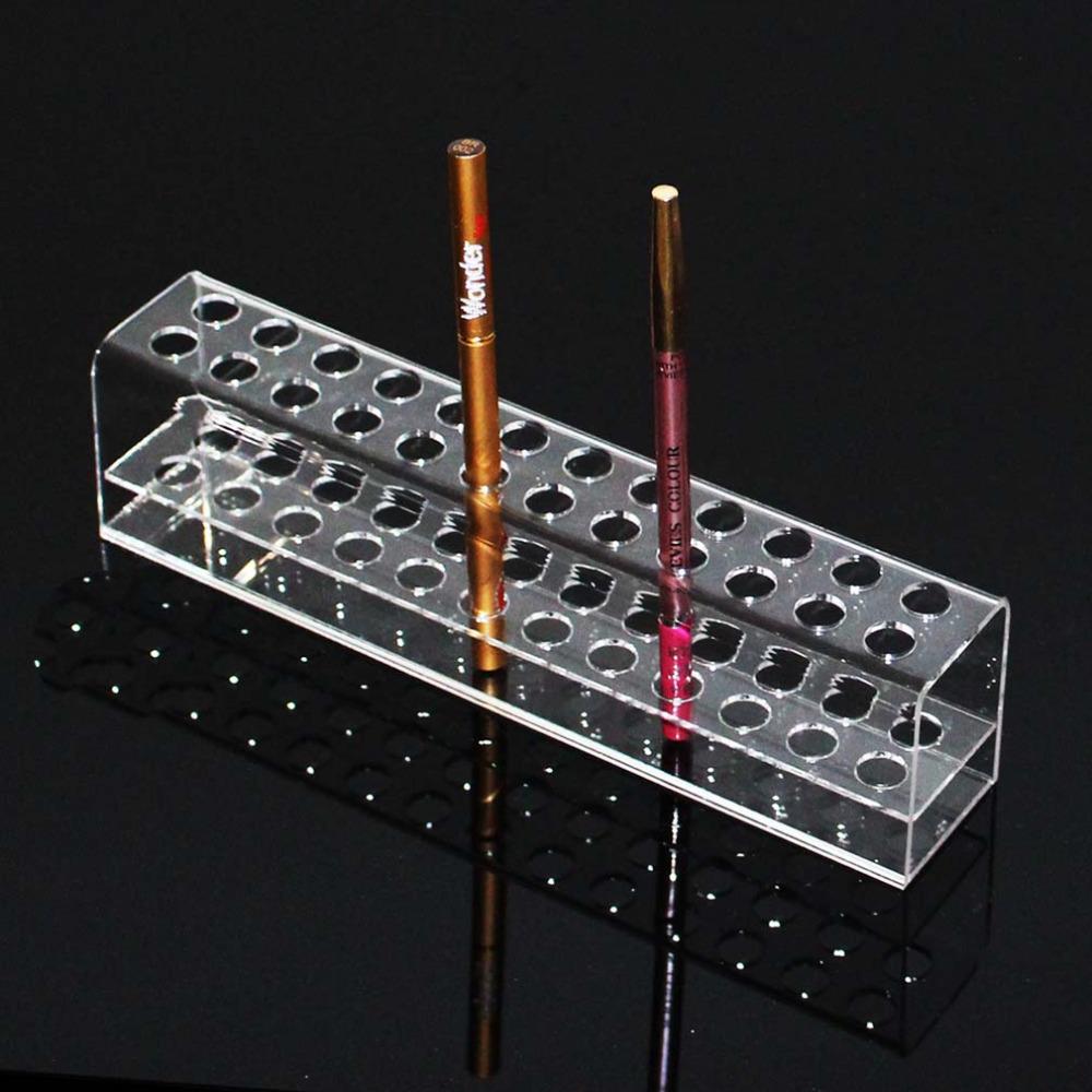 Transparent Acrylic Pen Rack Stationery Shelves Items Show The Pen Holder Eyebrow Pencil Display Shelf Jewelry Display(China (Mainland))