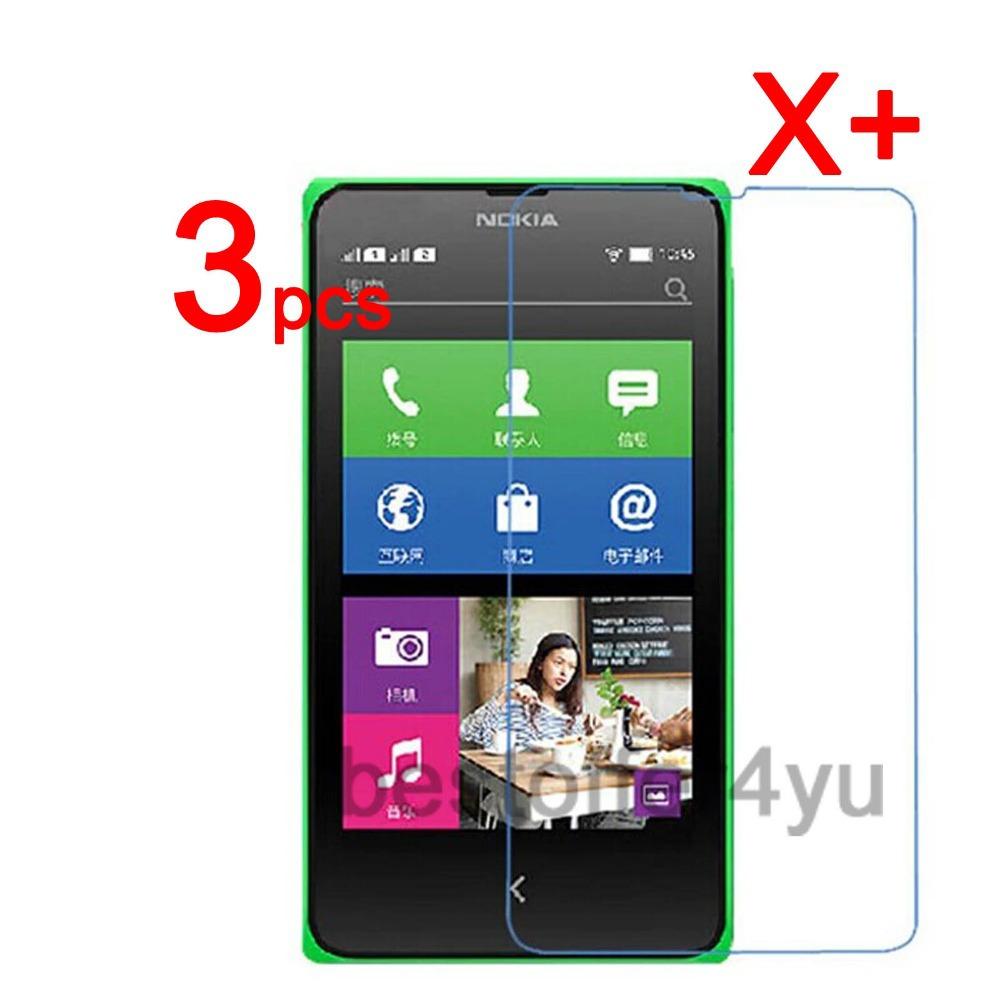 3 плёнка + 3 ткань защитная пленка для Nokia X двойной Sim X + царапинам экран защитная крышка