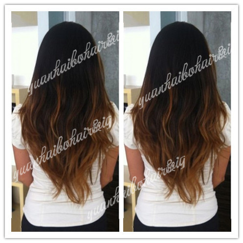 Best Quality Two Tone Colored Lace Front Wig Virgin Brazilian Hair Ombre Loose Wave Hair Wigs with Baby Hair Free Shipping(China (Mainland))