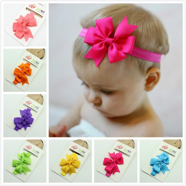 2016 новая мода лента для волос лук цветок Оголовье для Ребенка и корейский Волосы ...