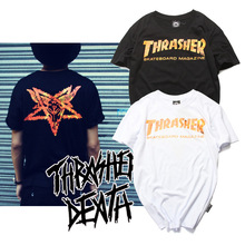 2016 summer trasher t shirt Magazine Flame hip hop women&men fashion t shirts skateboard t shirt homme swag t-shirt streetwear