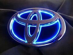 5D Toyota LED Rear logo car emblem badge Light for RAV4 REIZ COROLLA VIOS HIGHLANDER CAMRY EZ YARIS ALPHARD Etc Blue Power Light(China (Mainland))