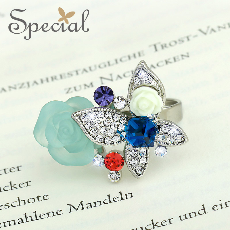Special New Fashion Western Style Wedding Rings Flowers Vintage Engagement Ring Gifts For Girls Women JZ150210(China (Mainland))