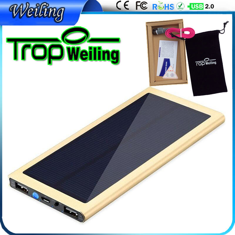 Tropweiling Solar battery bank 8000mah portable charger 18650 power bank for iphone 6 s /All phone cargador portatil(China (Mainland))