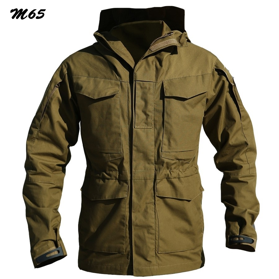 M65 UK US Army Clothes Casual Tactical Outdoors Windbreaker Men Winter Thermal Flight Pilot Coat Hoodie Military Field Jacket(China (Mainland))