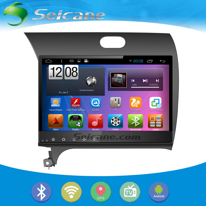 Seicane 10.2 inch Android 5.0.1 GPS Navigation System for 2013 2014 2015 Kia k3 with CPU Quad Core 4G WIFI Bluetooth Digital TV(China (Mainland))