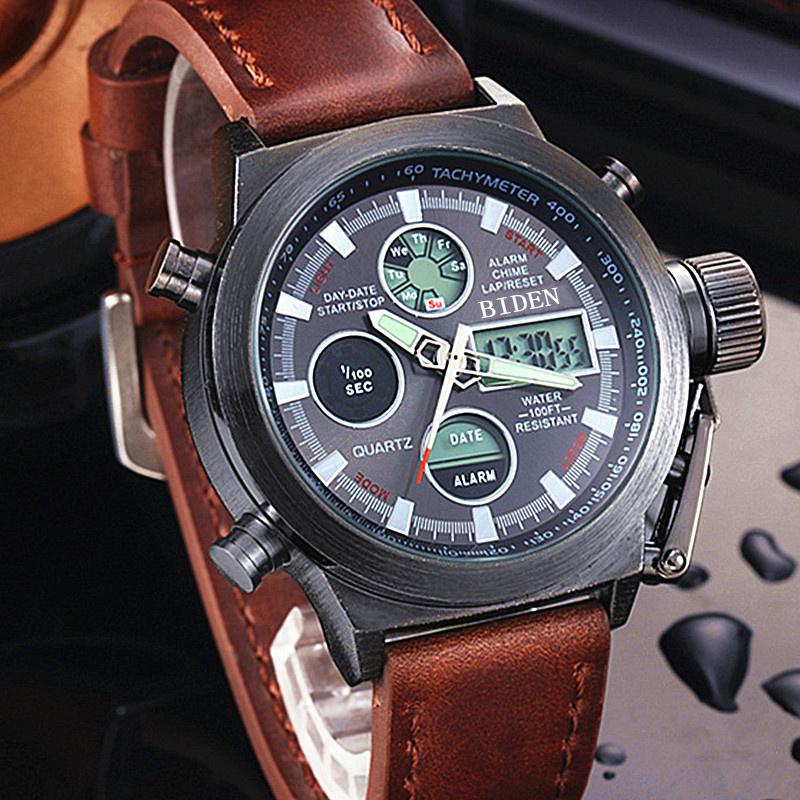 Reloj Hombre 2016 Watches men luxury brand Sport dive 50m LED Military watches Genuine quartz mens watch Clock Relogio Masculino(China (Mainland))