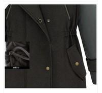 Зимние пальто женские новый теплый кашемировый жакет женщина моды теплый Хлопок одежда Европейский стиль Кап шерстяная Куртка Пальто большой размер