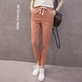Spring Summer Autumn Excellent Quality Slim Cotton Linen Women Pencil Pants Ladies Skinny Trousers Casual Elastic
